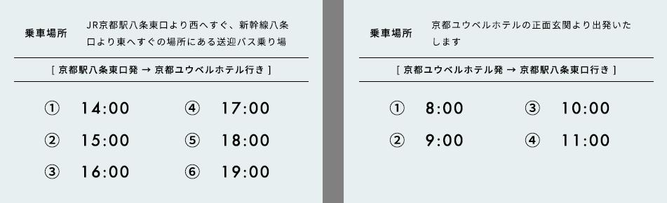 京都駅無料送迎バスのご案内